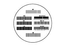 27mm Diameter, English Halftone/Screen, Contact Reticle