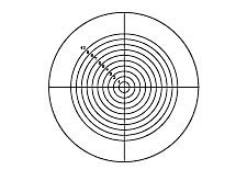 21mm Dia., Metric Circle Crosshair, Contact Reticle