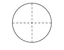 27mm Diameter, Dashed Crosshair, Contact Reticle