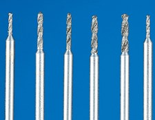 Set of 6 Diamond-Coated Glass Drills