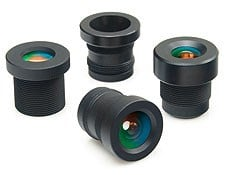 2.1mm FL, IR-Cut Filter at 650nm, f/2, Micro Video Lens